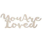You Are Loved Wood Cutout