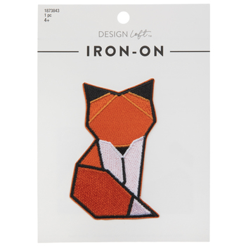 Geometric Fox Iron-On Applique