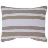 Beige & White Striped Pillow