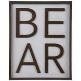 Bear Word Wood Wall Decor