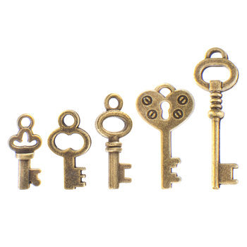 Mini Key Charm Embellishments