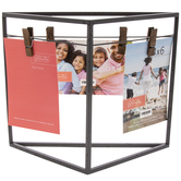 "Gray Triangle Metal Clip Frame - 4"" x 6"""