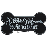 Dogs Welcome Metal Wall Decor
