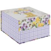 Floral Rain Boots Square Box