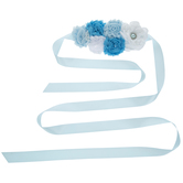 Blue Floral Maternity Sash
