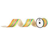 Rainbow Glitter Canvas Ribbon - 2 1/2