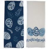 Blue & White Easter Egg Kitchen Towels