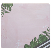 Pink Splatter Leaves Mouse Pad Notepad
