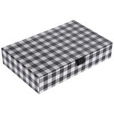 Black & White Buffalo Check Hinge Box