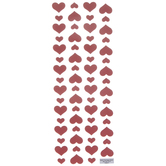 Red Heart Puffy Stickers