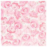 "Pink Cluster Roses Scrapbook Paper - 12"" x 12"""