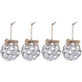 Star & Diamond Cutout Ball Ornaments