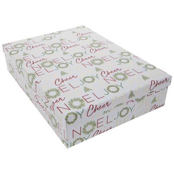 "Joy Wreath Gift Box - 12 5/8"" x 17 1/4"""