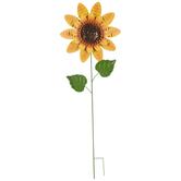 Sunflower Metal Garden Stake