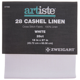 "White 28-Count Cashel Linen Cross Stitch Fabric - 18"" x 27"""