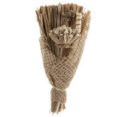 Dried Straw, Flowers & Coils Bouquet