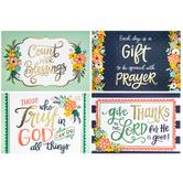 Floral Metallic Prayer Cards