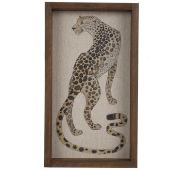 Cheetah Wood Wall Decor