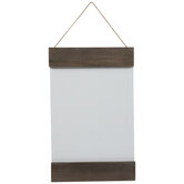 White & Brown Rectangle Wood Wall Decor