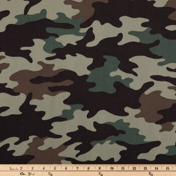 Olive Drab Camouflage Apparel Fabric