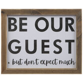 Be Our Guest But Wood Wall Decor