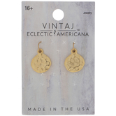 10K Gold Plated Hammered Round Charms