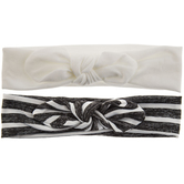 Black & White Striped Tie Fabric Headbands
