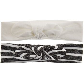 Black & White Striped Tie Fabric Headbands