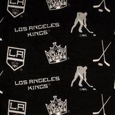 NHL Los Angeles Kings Allover Fleece Fabric
