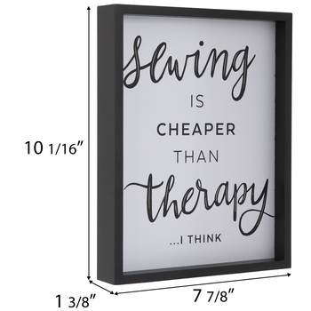 Sewing Therapy Wood Wall Decor