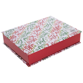 Red & Green Foil Happy Holidays Box