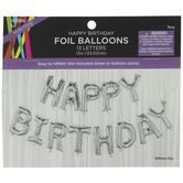Silver Foil Balloon Banner
