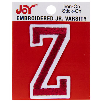 "Red Junior Varsity Letter Iron-On Applique Z - 2"""