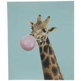 Giraffe Blowing Bubble Wood Wall Decor