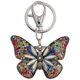 Butterfly Rhinestone Keychain