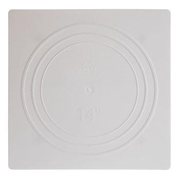 "White Square Cake Separator Plate - 14"""