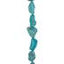 Imitation Turquoise Tumbled Howlite Bead Strand