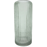 Gray Molded Line Glass Vase