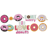 I Love Donuts Foam Stickers