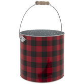 Buffalo Check Metal Tree Container
