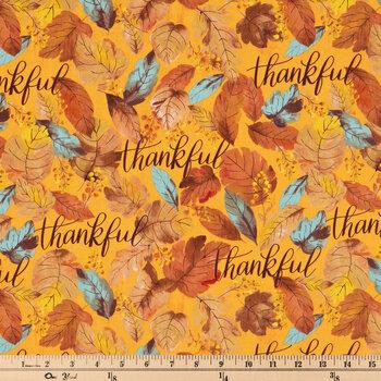Thankful Leaves Cotton Fabric