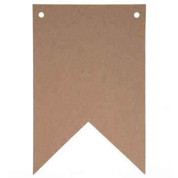 Kraft Chipboard 2-Point Pennants