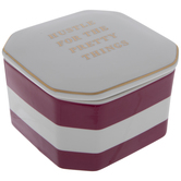 Hustle For The Pretty Things Striped Hexagon Box