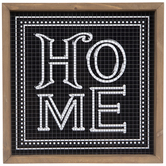 Black & White Home Tile Wood Wall Decor