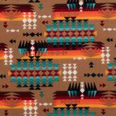 Brown Southwest Fleece Fabric