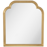 Gold Scalloped Top Wood Wall Mirror