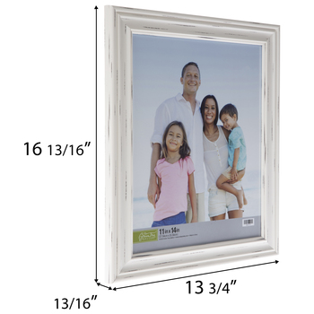 Distressed White Beveled Wall Frame