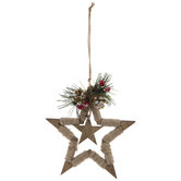 Jute Wrapped Star Ornament