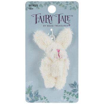 White Plush Rabbit Pendant