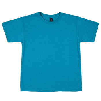 Heather Galapagos Blue Tri-Blend Youth T-Shirt - Large